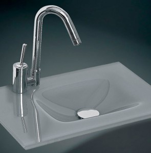Glass wash basin n-741
