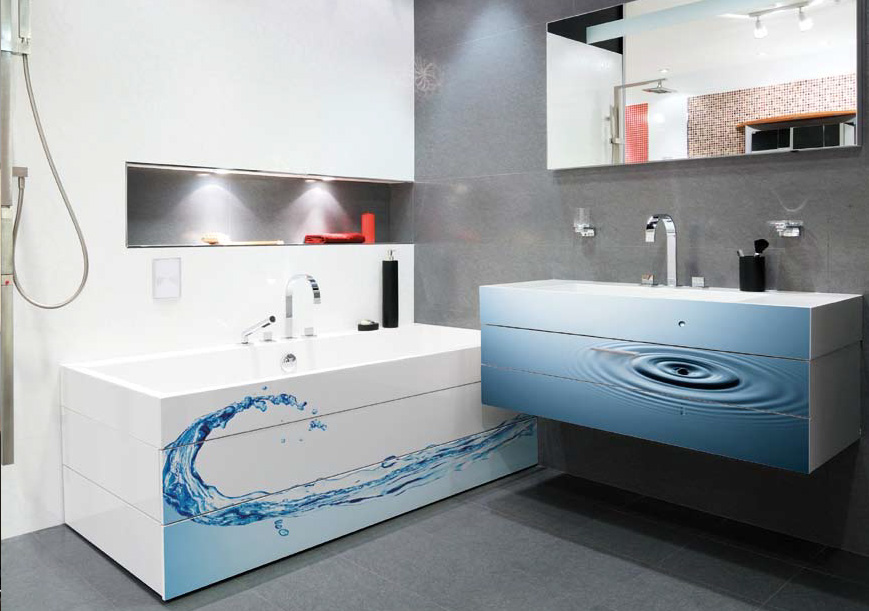Bathroom Digital Print Digital Prints Acqua E Bagno